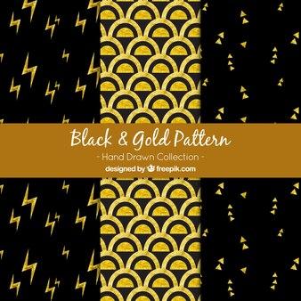 Modelli nero e dorato