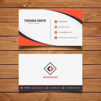 Modello arancione biglietto da visita aziendale