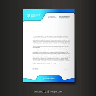 Modello aziendale moderno della lettera intestazione