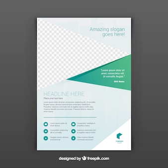 Modello brochure business astratto