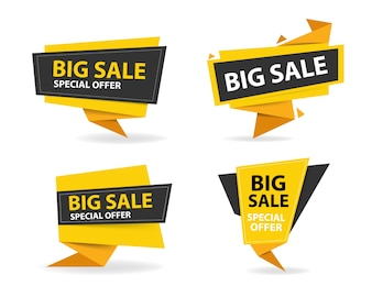 Modello colorato di shopping banner di vendita