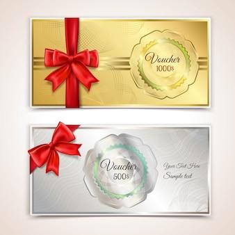Modello dei buoni regalo