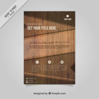 Modello di brochure aziendale di struttura di legno