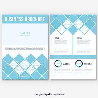 Modello di brochure aziendale geometrico
