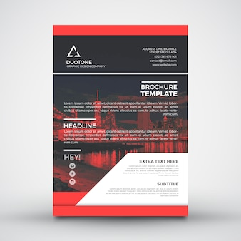 Modello di brochure Red