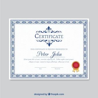 Modello di certificato ornamentali