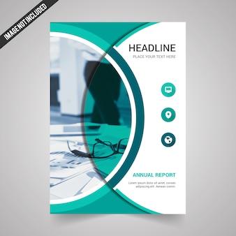 Modello di copertina di Creative Annual Report