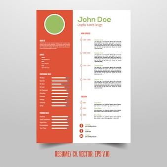 Modello di curriculum con elementi infographic utili