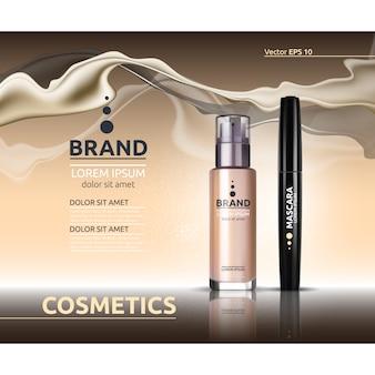 Modello di elementi cosmetici