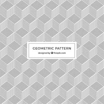 Modello di forme geometriche con linee