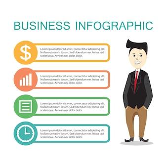 Modello di Infographic Business
