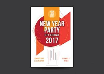 Modello di manifesto del partito di nuovo anno