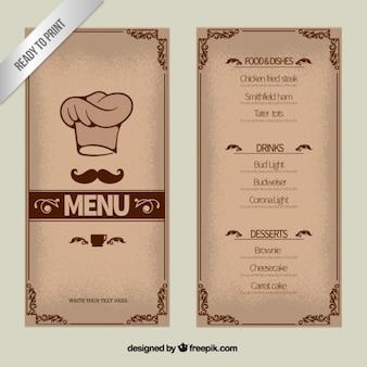Modello di menu Ornamentali
