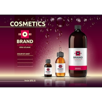 Modello di prodotto cosmetico