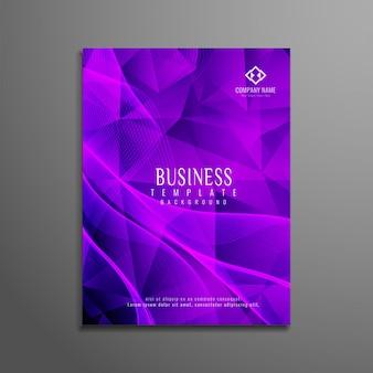 Modello di progettazione astratta moderna del brochure aziendale