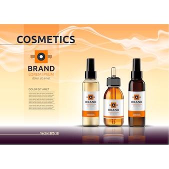 Modello di pubblicità cosmetica