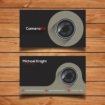 Modello di scheda aziendale per la fotografia