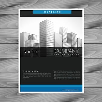 Modello di stile brochure aziendale scuro in stile moderno