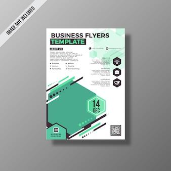 Modello di volantino verde di affari