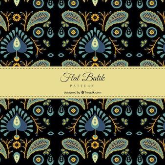 Modello elegante retrò batik