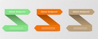 Modello freccia infografica