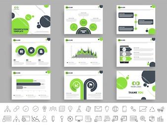 Modello presentazione impostato con infografica.