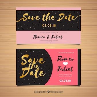 Modello romantico di invito di nozze