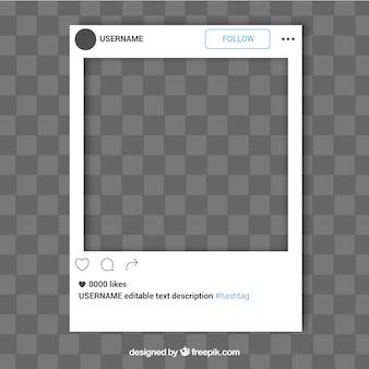 Modello semplice frame di instagram