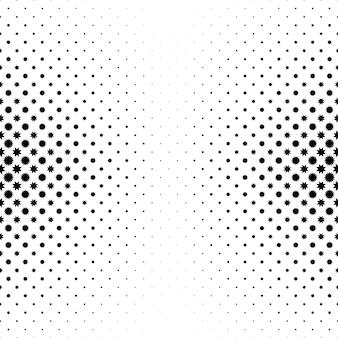 Modello stella in bianco e nero
