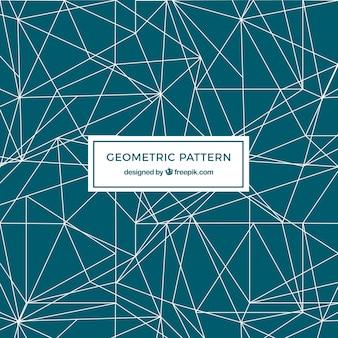 Modello verde geometrico con linee