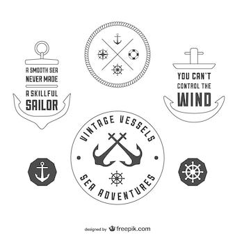 Modello vintage badge nautiche