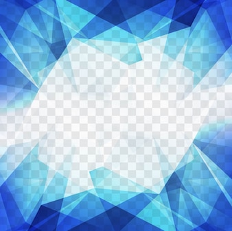 Moderna sfondo blu poligonale