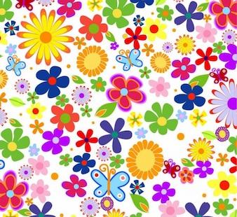 Moderno fiore di primavera sfondo vettoriale