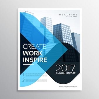 Moderno modello di brochure blu presentazione aziendale per la relazione annuale in formato A4