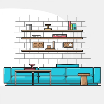 Moderno salotto accogliente