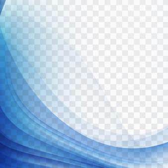 Moderno sfondo blu ondulato