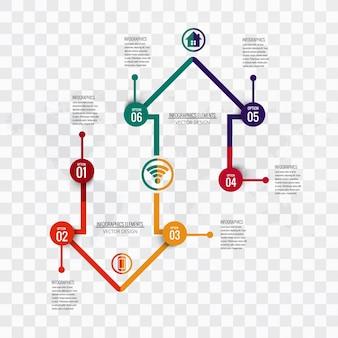 Moderno sfondo Infografica