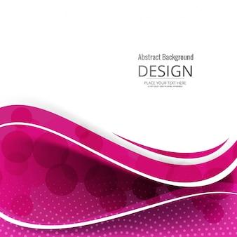 Moderno sfondo ondulato rosa
