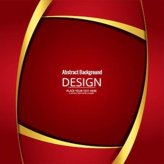 Moderno sfondo ondulato rosso