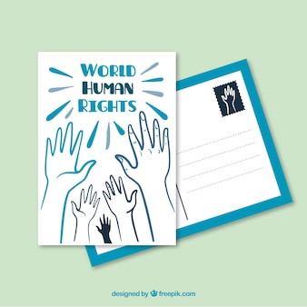 Mondiale cartolina diritti umani
