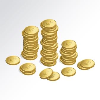 Monete disegno di sfondo