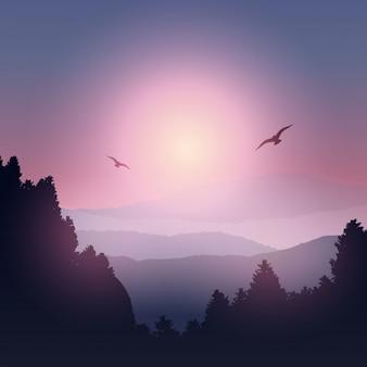 Montagna Paesaggio Sagoma