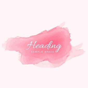 Morbido acquerello rosa