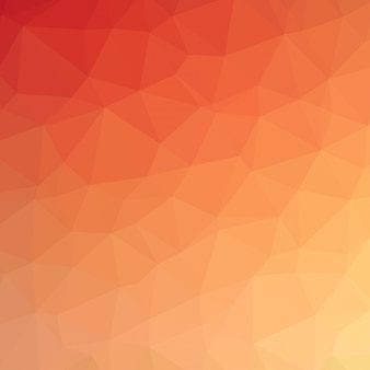 Mosaico astratto sfondo. Sfondo triangolo geometrico. Elementi di design. Illustrazione vettoriale. Colore giallo, arancione e rosso.