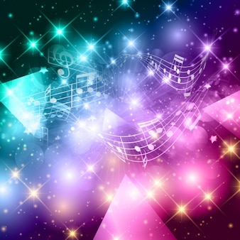 Musica di sottofondo colorato in stile astratto