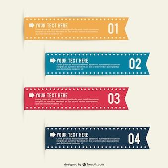 Nastri infographic modificabili