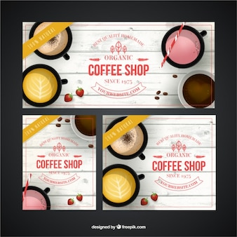 Negozio di caffè banner