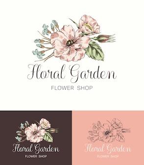 Negozio di fiori Logo