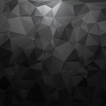 Nero poligonale forme sfondo