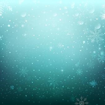 Neve fiocchi di fondo